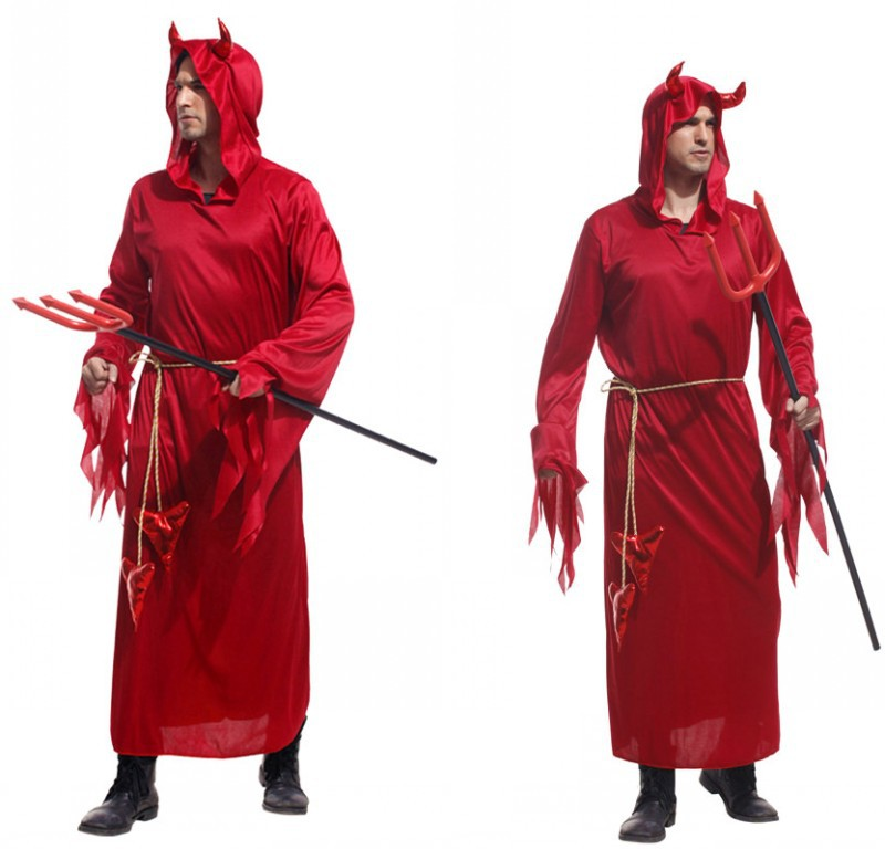 Adult Halloween costume party stage costumes devil ROBES clothes FOR MEN