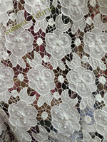 Latest African Laces white High Quality Tulle Fabric Laces Nigerian Lace French Lace Fabric For Women Dress