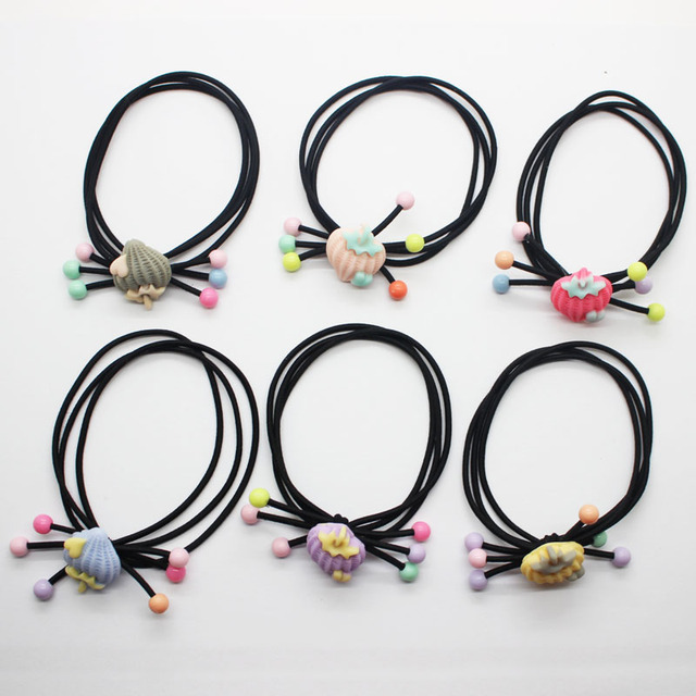 Girl s cute strawberry Elastic Hair Bands Fancy colourful rubber bands  ponytail holders fashion hair scrunchies hair accessories 2b84d2b26d2