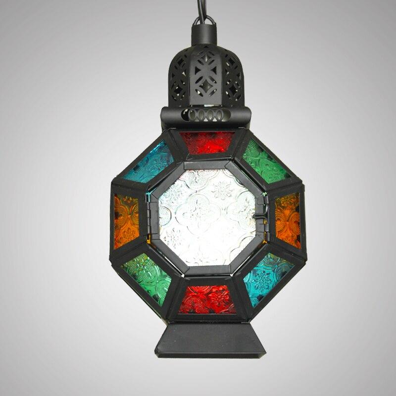 pendant lamps single head lighting ZA Bohemia pendant lights colorful coffee tree lights Mediterranean Southeast Asia bar small