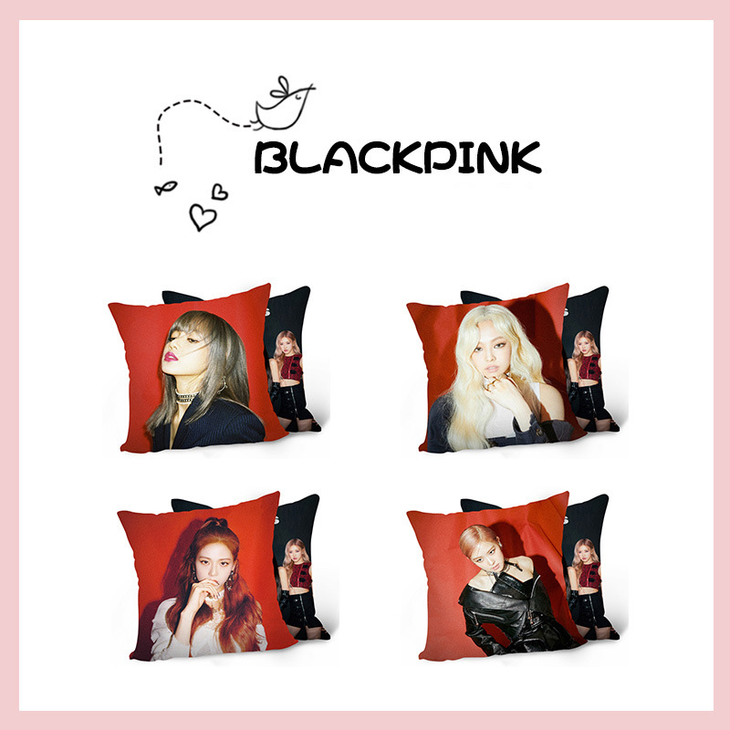 KPOP BLACKPINK KILL THIS LOVE Pillow LISA ROSE JENNIE JISOO PP Cotton Car Cushion Sofa Sleeping Pillow Tools Size 40*40CM image