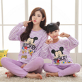 Carácter Pijamas del Desgaste de Ocio de la Ropa del Padre-Niño de La Familia Conjunto Madre e Hija de Ropa Madre Hija Ropa Conjuntos FF33