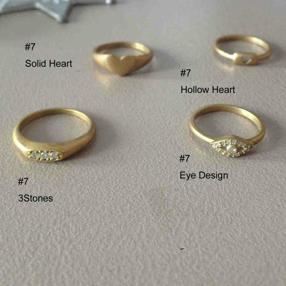 Bague en pierres CZ or et cuivre | Nouveau design à la mode, taille 7, bague de doigt d'anniversaire de mariage, bijoux 60 pièces par lot, design solide