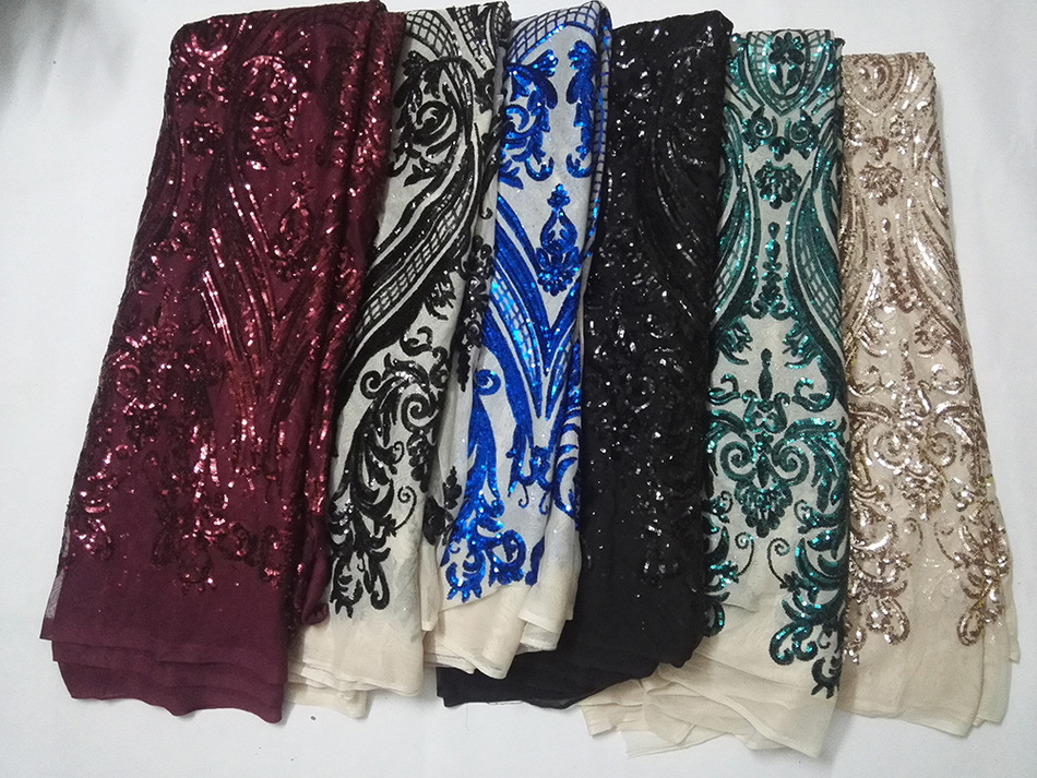 Gipiury koronki tkaniny 2017 haftowany tiul koronka afryki koronki 5 stoczni/dużo dla suknia wieczorowa darmowa wysyłka cekiny tkaniny w Koronka od Dom i ogród na  Grupa 1