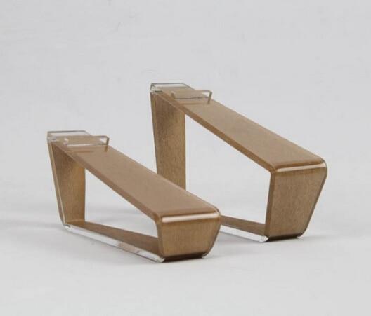 zstyle wooden acrylic shoes holder display rack desktop standchina
