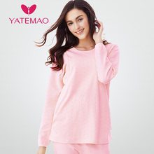 f9275ff811e21 YATEMAO Cotton Thick Long Sleeve Pajama Tops Winter Maternity Nursing  Clothes Breastfeeding Clothing Pregnancy Sleepwear