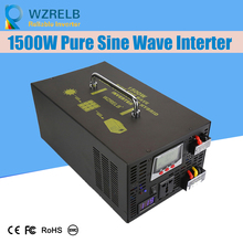 Peak Full Power 1500w Pure Sine Wave Solar Power Inverter Dc 12v 24v 48v Converter Solar power inverter with Dual Display off grid pure sine wave solar inverter 24v 220v 2500w car power inverter 12v dc to 100v 120v 240v ac converter power supply