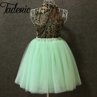 Fashion 7 Layer Midi Tutu Tulle Skirt Vintage Skirts Womens Lolita Petticoat Falda Mujer Saia Jupe