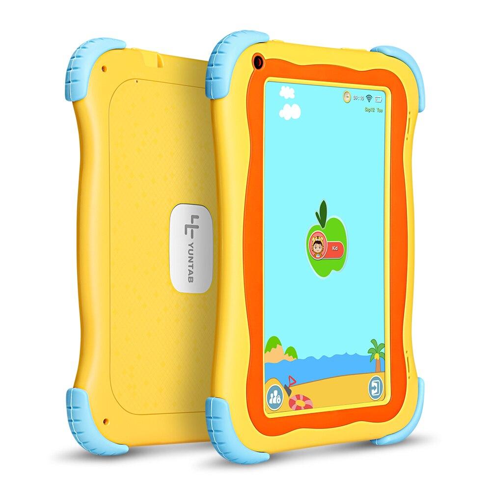 Yuntab 7 дюймов 3 цвета Q91 Детские планшеты ПК Allwinner A33 4 ядра 1 ГБ + 16 ГБ Android 4,4 Сенсорный экран двойной камера