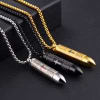 European And European Accessories Stainless Steel Men S Pendant Can Twist Open A Piece Of Paper