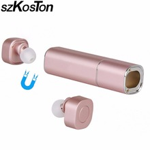 Twins power Bank Earphones Wireless Bluetooth Headsets with Mic hands-free and 500mAh mobile charging box for xiaomi iphone