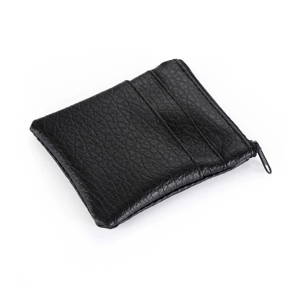1PC Fashion Men's Business Credit Card Holder Change Bags Pu Faux Leather Mini  Credit Card Holder Case 2019 New