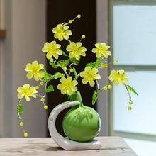 High quality 2017 Fashion Crystal Flower Vase for Wedding Decoration Home Decor Vase Creative ceramic Vase Arts and crafts цены
