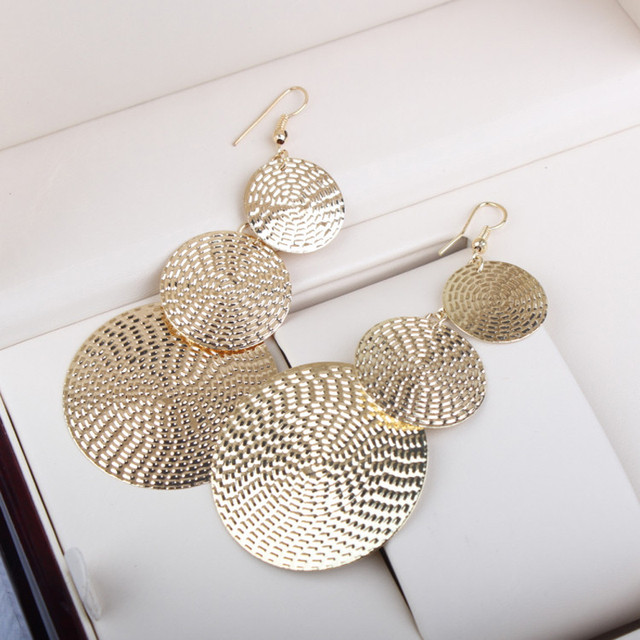 Big Round Drop Bohemian Earrings
