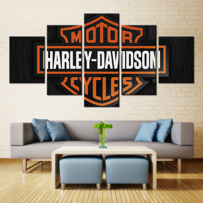 Perfect Aliexpress.com : Buy 5 Pieces Motor Harley Davidson Cycles Wall Art Picture  Home Decoration Living Room Canvas Print Wall Picture Printing On Canvas  From ... Part 14