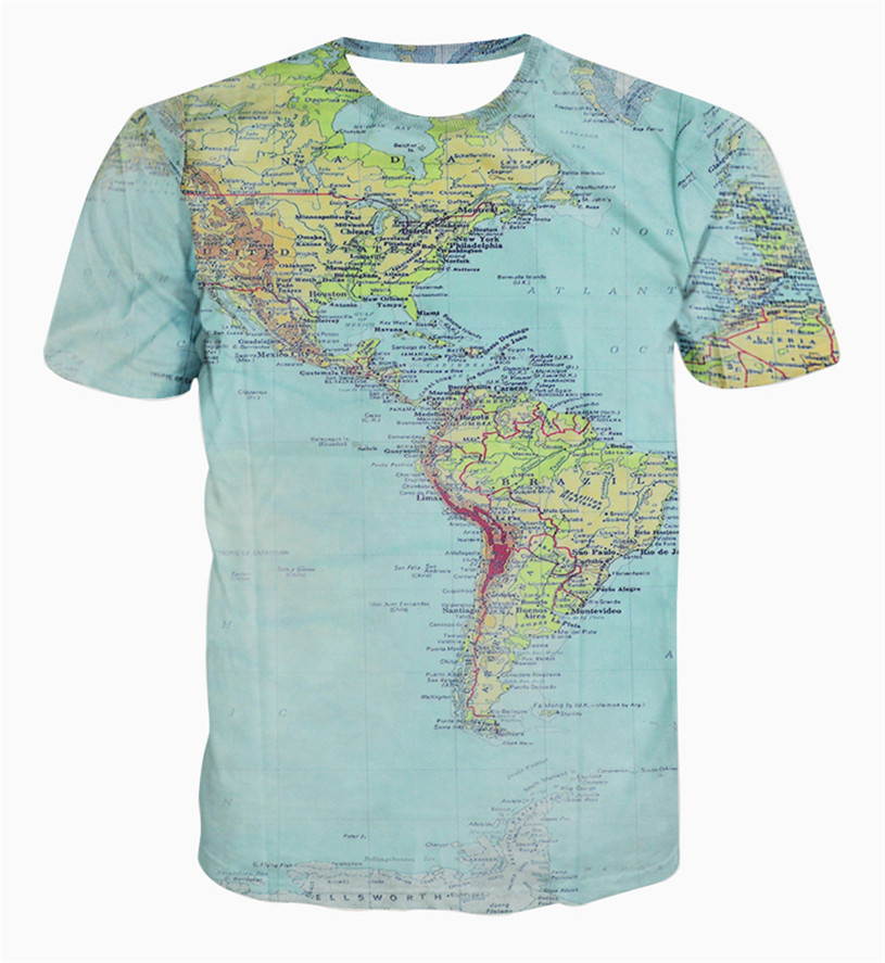 Online buy wholesale map t shirt from china map t shirt T shirt printing china