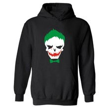 Hero Suicide Squad Joker Punk Hooded Mens XXXL Hoodie in Harley Quinn Mens Hoodies and Sweatshirts Street Brand Big Size 4XL