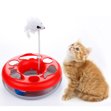 Pet Cat Toy Combination Mouse Ball Interactive Toys Chase Game Cats Track Training Turntable Teapot 5 Colors Dish
