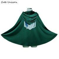 Attack On Titan Cloak Shingeki No Kyojin Scouting Legion Costume Anime Cosplay Green Cape Fashion Clothes