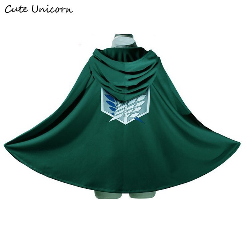 SALE Attack on Titan Cloak Shingeki no Kyojin Scouting Legion Cosplay Costume anime cosplay green Cape mens clothes аксессуары для косплея no 60cm cosplay