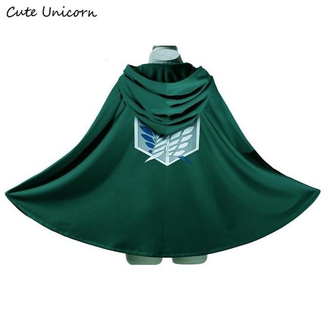 Attack on Titan Cloak Shingeki no Kyojin Scouting Legion Cosplay Costume anime cosplay green Cape mens clothes