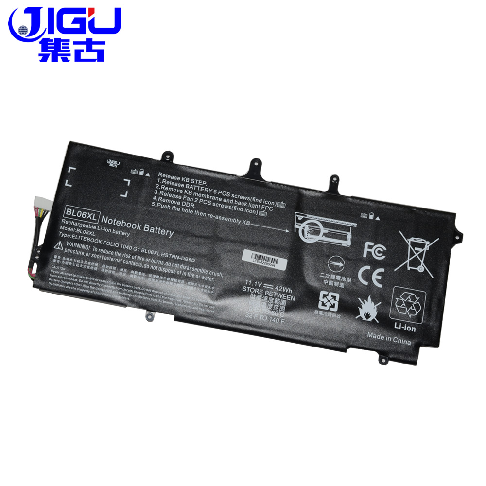 JIGU 3CELLS Laptop Battery 722236-171 BL06042XL BL06XL HSTNN-DB5D IB5D W02C For HP For EliteBook Folio 1040 G0 G1 G2 L7Z22PA jigu laptop battery bl06042xl bl06xl hstnn db5d hstnn ib5d hstnn w02c for hp for elitebook folio 1040 g0 g1 l7z22pa