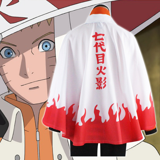 2017 Anime Naruto Cosplay Costumes Seventh Hokage Cloak Naruto Uzumaki Cape Outfit Halloween Party Clothing