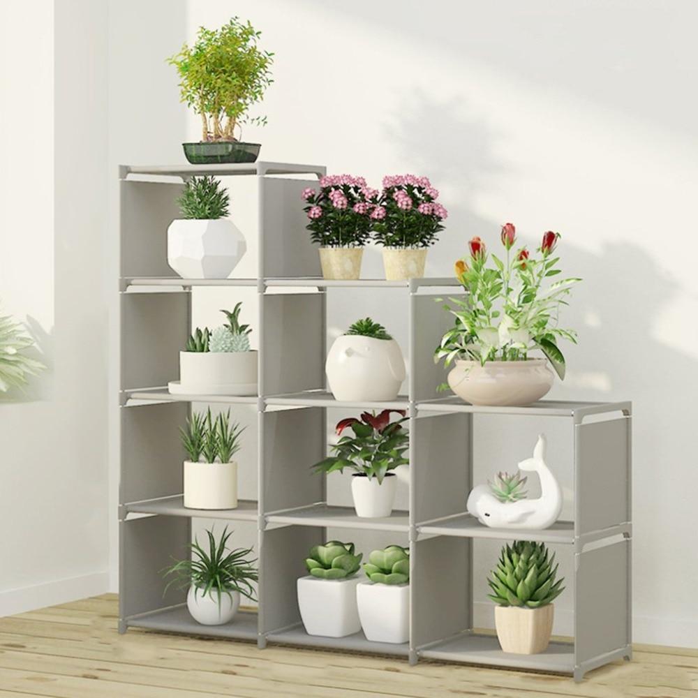 DIY Children's Bookcase Cabinet Bookcase Office Home Furniture Organizer Bookshelf Folding Storage Shelves Unit