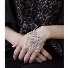 Famous Brand Bracelet Tassel Shape With Zircon Stone Bangles For Wedding Women Fashion Jewelry Pulseiras WB010