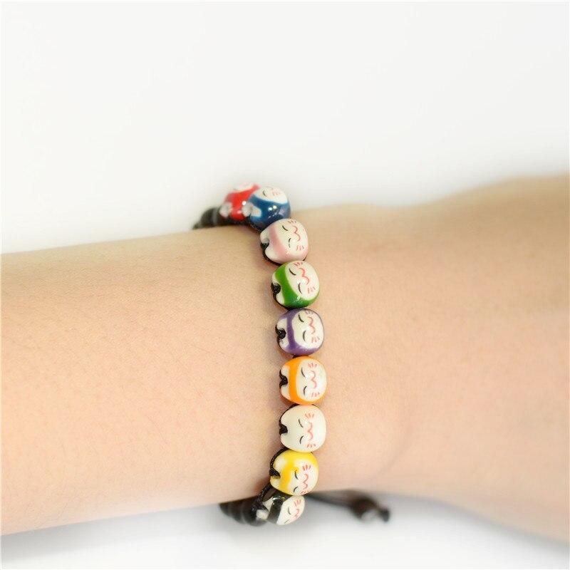 Pulseras de la Amistad color cerámica gato de la suerte Linda cuerda roja pulsera hecha a mano amantes de la joyería este año animal pulseras y brazaletes