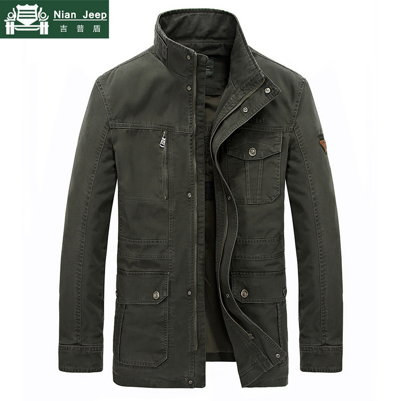 Plus tamaño 7XL 8XL chaqueta militar de la marca de los hombres de alta calidad de algodón Otoño Invierno Outwear ejército Abrigos Hombre jaqueta masculina L 8XL-in Chaquetas from Ropa de hombre    1