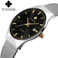 Hot Sale Men Watches Top Brand Luxury Day Date Stainless Steel waterproof Clock Male Casual Quartz Watch Men Sport Wristwatch