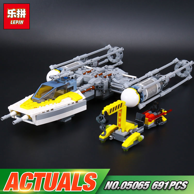 New 691Pcs Lepin 05065 Star Series War The 75172 Y Model Wing Star Set fighter Building Blocks Bricks Educational Kids Toys Gift lepin 05040 y attack starfighter wing building block assembled brick star series war toys compatible with 10134 educational gift