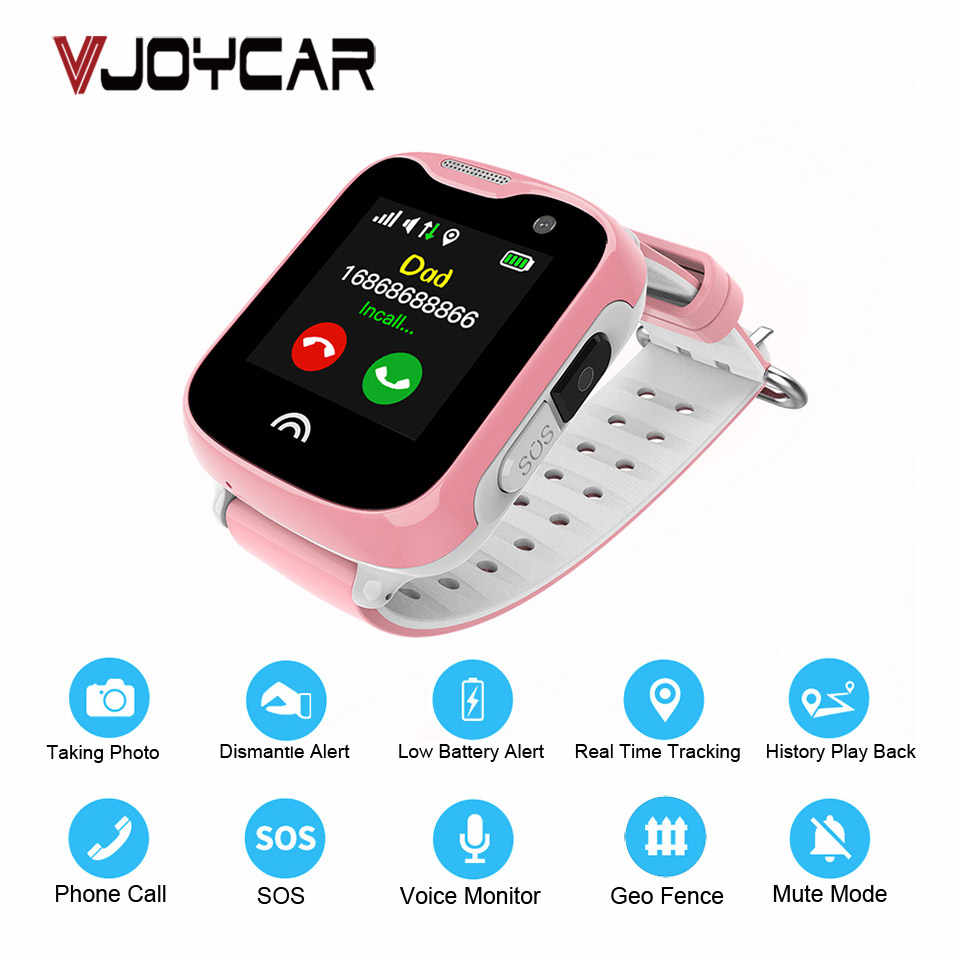 VJOYCAR D7 Kids Watch GPS Tracker Children Remote Camera Mobile Phone Call SOS Waterproof Mini GPS Free Tracking Software APP