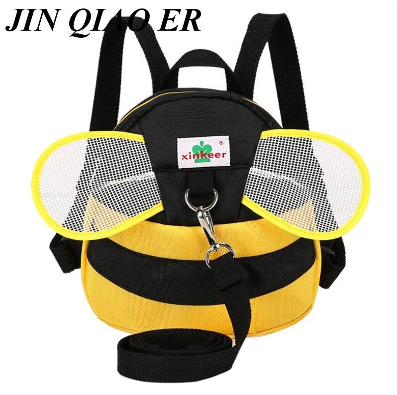 Bee Anti Lost Backpack For 1-3 Years Kindergarten Toddler Aminals Cartoon School Children Backpack Mochila Escolar