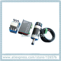 air cooled Spindle Motor 500w 48VDC Brushless spindle motor 12000rpm + Mount Braket Holder + brushless spindle driver