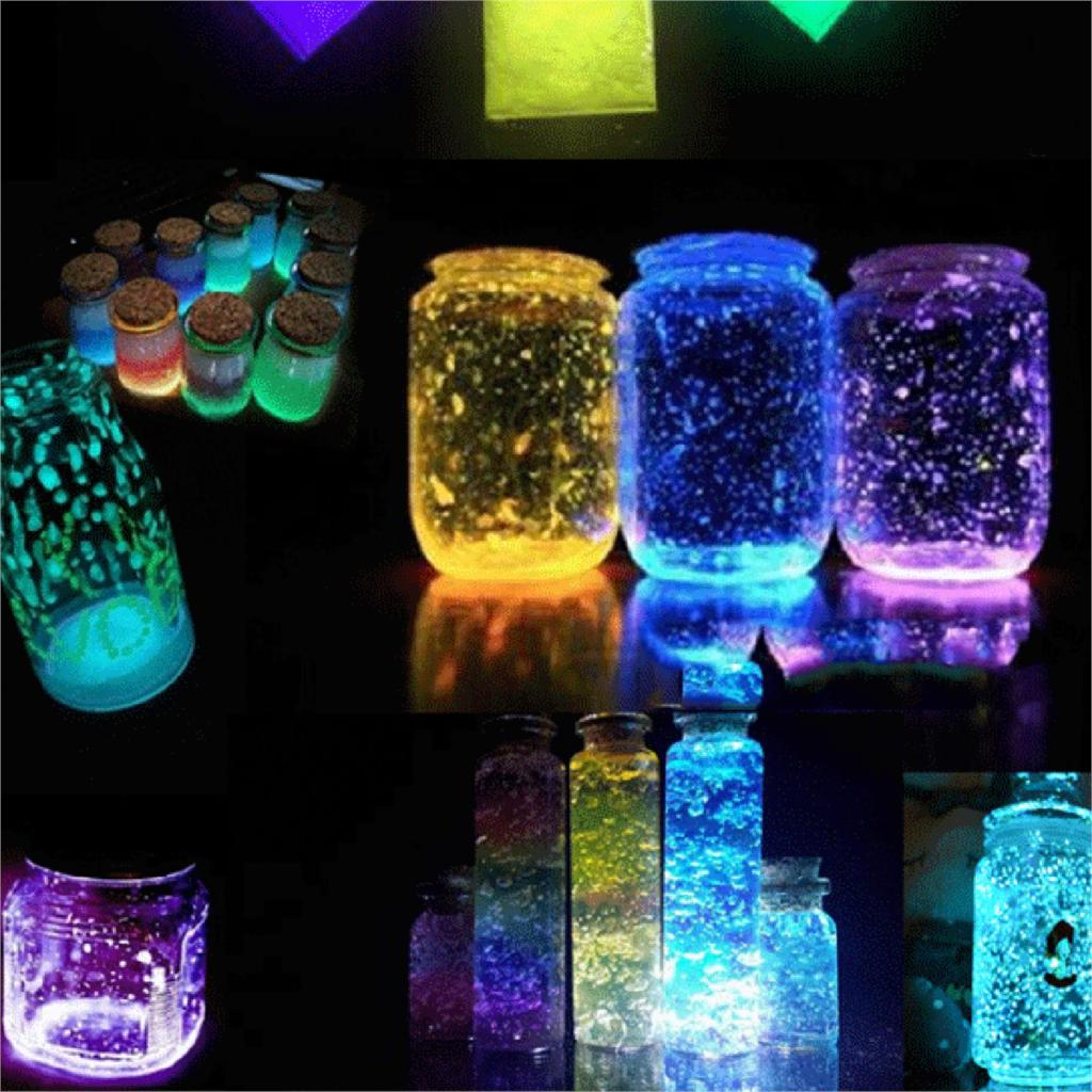 Mixed Resin Jewelry DIY Making Craft Glow In The Dark Powder Luminous Pigment Green 8cm x 6cm, 1 Packet (Approx 10 Grams) цена