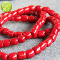 2015 New Beautiful fashion 12*14mm Natural Red Coral Jasper DIY stones jade beads 15inch Jewelry making design wholesale