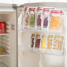 4/3Pcs Reusable Snack Bag Freezer Hermetic Food Storage Fresh Seal Bottle Cans Kitchen Organizer Mason Jar for Travel