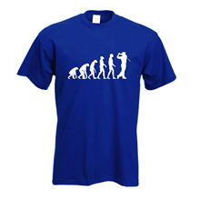 Golfer T Shirt | Evolution of Golfing T-Shirt Perfect Gift FREE UK P&P New Shirts Funny Tops Tee  free shipping