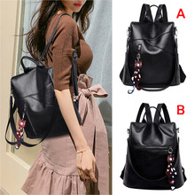 Women Color Matching Wild Fashion Leisure Travel Bag Student Bag Backpa