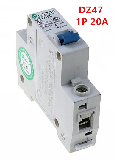 1P 20A 230//400v~ 50HZ//60HZ Mini Circuit breaker MCB C45 C TYPE