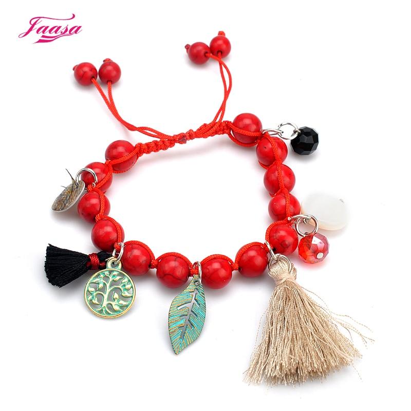 jaasa fashion jewelry natural stone hand-woven high-quality charm bracelet for women Bohemian style bracelet bracelet accessorie