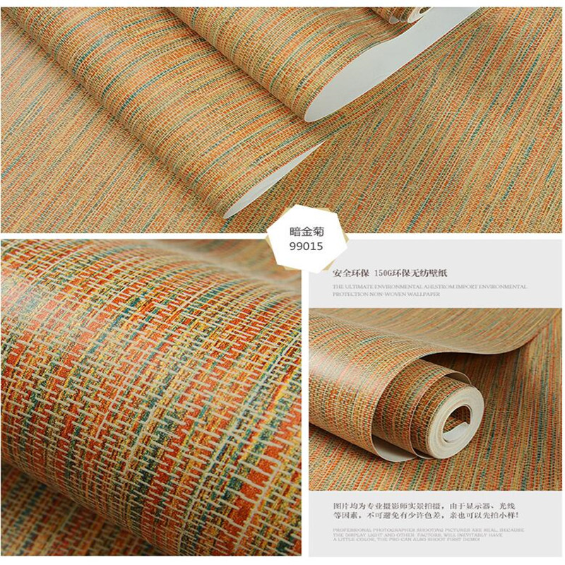 Wholesale Plain Bamboo Woven Wallpaper Living Room Restaurant Bedroom Background Pure Color Straw Wallpaper Roll Home Decor