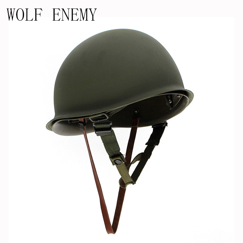 New Hot Sale High Quality Universal Portable Military Steel M1 Helmet Tactical Protective Army Equipment Field Green Helmet ccgk double layer m1 helmet steel and abs safety helmet military tactical protective equipment outdoor cs survival collection