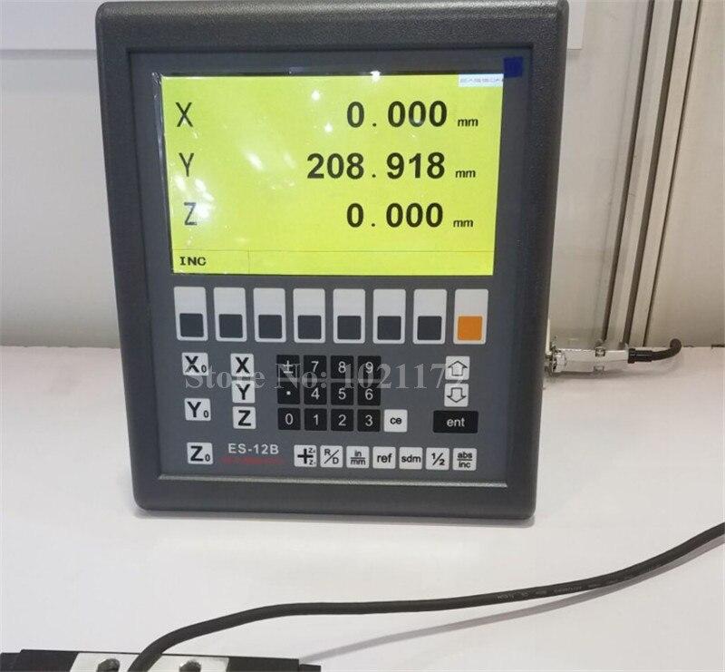 Новый Easson ES-12B 3 оси цифровая индикация мельница токарный 3 оси УЦИ системы и 3 предмета в комплекте GS10 цифровые линейные весы для Токарный ста...