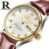 ONTHEEDGE Sport Watches Men Luxury Brand Waterproof Genuine Leather Wristwatch Male Military Clock Man Quartz Watch