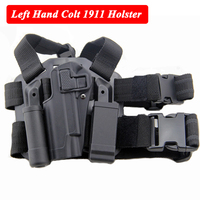Army Combat Military Gun Leg Holster w/ Magazine Pouch Hunting Airsoft Gear Tactical Thigh Holster For Colt 1911 Gun