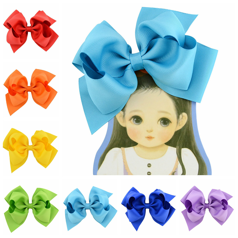 1piece 6inch Boutique Large Hair Accessories Double Layers Handmade Ribbon Hair Bow With Clip For Kids Hair Accessories 673