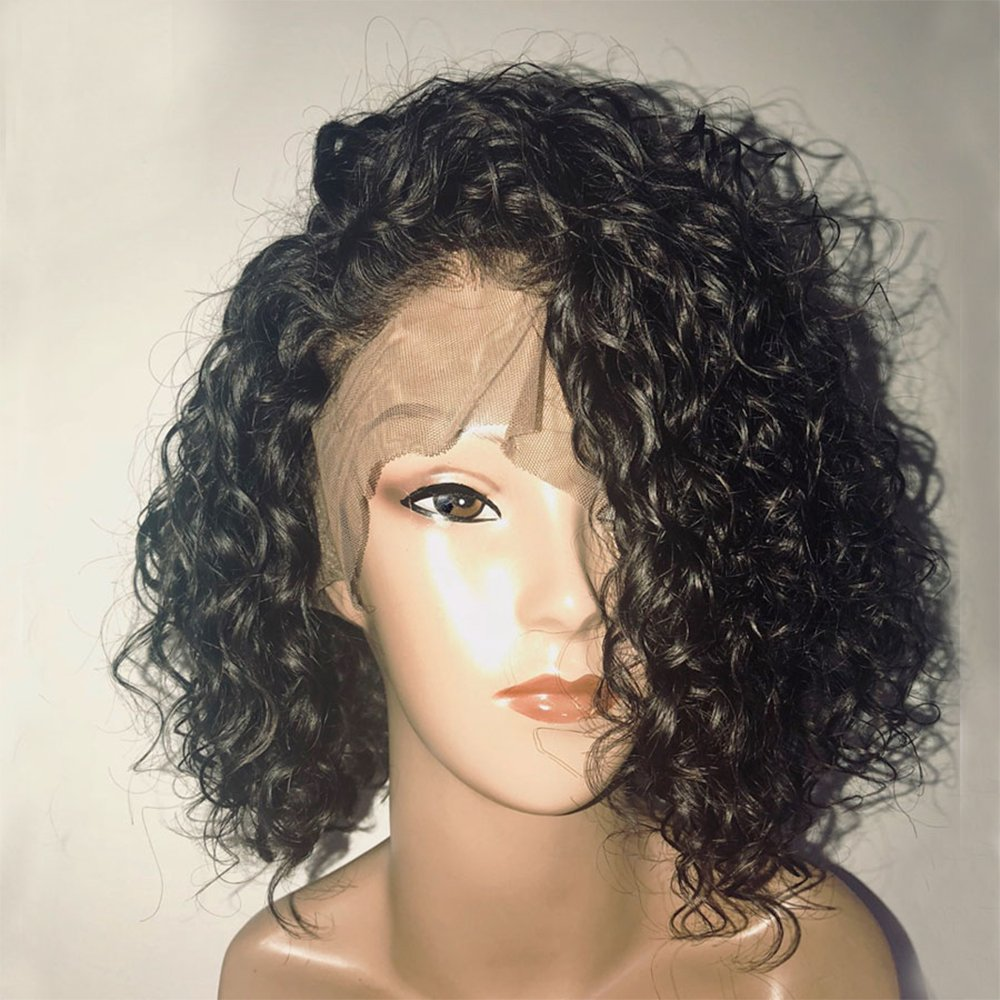 Eversilky Short Lace Front Human Hair Wigs With Baby Hair Pre Plucked Hairline Brazilian Remy Hair